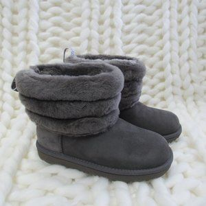 New UGG Australia Fluff Mini Quilted Logo Boot 1
